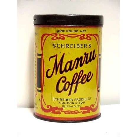 Advertising Coffee Tin For Manru Coffee