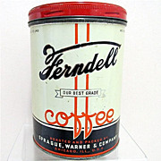 SALE Early Ferndell Coffee Antique Advertising Coffee Tin