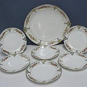 SALE Nippon Porcelain Cake Set Master Plate and Six Servings One Of Many