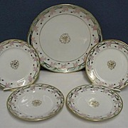 SALE 50% OFF Nippon Cake Set Master Plate and Four Servings