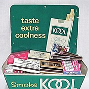 SALE Advertising Tin Match Book Holder Kool Cigarettes