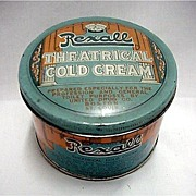 SALE Rexall Theatrical Cold Cream Advertising Tin
