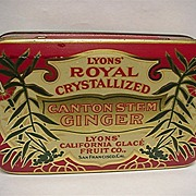 SALE Lyons Royal Canton Ginger Advertising Tin
