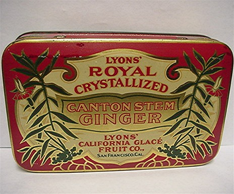 Lyons Royal Canton Ginger Advertising Tin