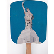 SALE Statue of Liberty Fan Advertising Liberty National Insurance Co.