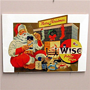 SALE 50% OFF Christmas Store Display Advertising Wise Potato Chips MINT