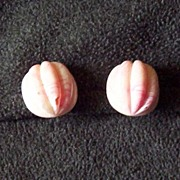 Vintage Pink Swirl Ripple Earrings