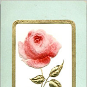 REDUCED Vintage Post Card Birthday Greetings Single Pink Rose
