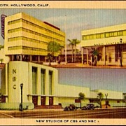 Vintage Post Card Radio City NBC and CBS Studios