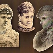 Vintage Victorian Scrap Cut Outs Beautiful Ladies (3)