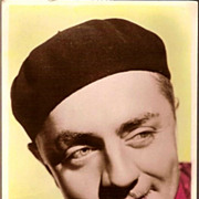 REDUCED Vintage Post Card Real Photo Tinted Hollywood Actor William Powell