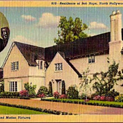 Vintage Post Card Hollywood Home of Actor Bob Hope