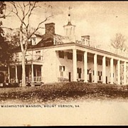 Vintage Post Card Photogravure The George Washington Mansion