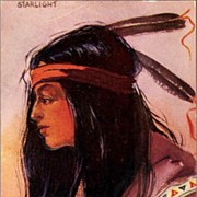 REDUCED Vintage Post Card Artist Signed Western American Indian Brave
