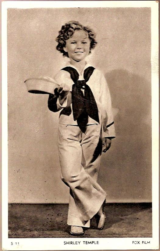 Vintage Post Card Hollywood Actress Shirley Temple in Sailor Suit