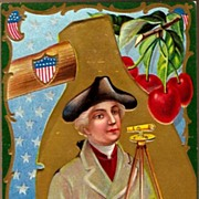 Vintage Post Card Patriotic George Washington his Industry