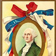 Vintage Post Card Patriotic George Washington's Birthday