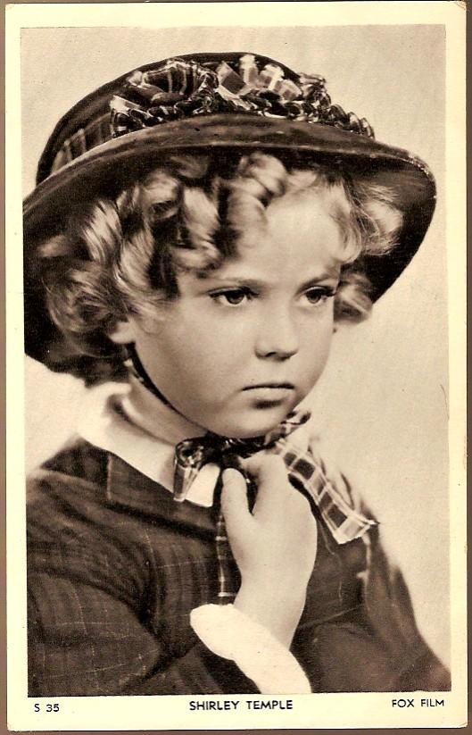 Vintage Post Card Hollywood Actress Shirley Temple