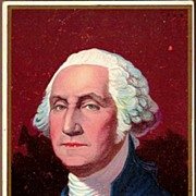 REDUCED Vintage Post Card Patriotic President George Washington