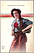 Vintage Post Card Western Art Cowgirl with Pistol
