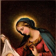 SOLD Vintage Post Card Religious Art Mary with The Baby Jesus