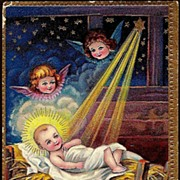 REDUCED Vintage Post Card Christmas Greetings The Christ Child