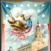 Vintage Post Card Tucks Patriotic Independence Hall and Liberty Bell