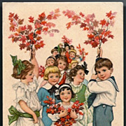 Vintage Post Card Religious Boys and Girls
