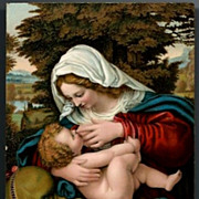 SOLD Vintage Post Card Stengle Artist Signed Religious Mary and The Christ Child