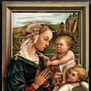 Vintage Post Card Religious Artist Signed The Virgin with the Holy Child