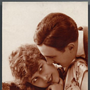 Vintage Post Card Romance Deco Man and Woman Couple