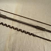 SALE Three Long Shank Bits including two Auger Wood Boring bits