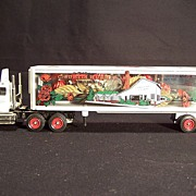 SALE Winross Die Cast Truck & Trailer-C. Curtis Hughes--See Thru Trailer--Flowers