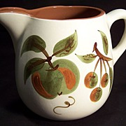 SALE Stangl Handpainted Pottery Pitcher--Orchard Song pattern