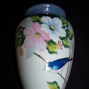 SALE Handpainted Bluebird Wallpocket--Japan