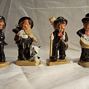 SALE Four Musician Band Figurines