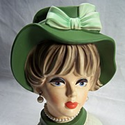 SALE Napcoware lady Headvase-- C7496--8 1/2 inches