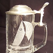 SALE Glass Stein with Pewter top
