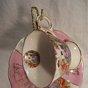SALE Royal Halsey Bone China Cup & Saucer