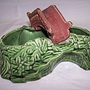 SALE Shawnee Pottery-- Bridge Planter