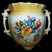 SALE Czechoslovakia Hand Painted Vase