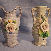 SALE Pair of German Bud Vases--Red Mark