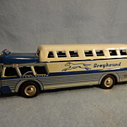 SALE Japan tin friction Greyhound Scenicruiser Bus