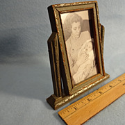 SALE Vintage Minature Swivel Picture Frame