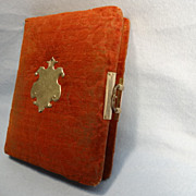 SALE Vintage Crushed Red Velvet Photo Album