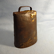 SALE Vintage American Hand Made Cow Bell