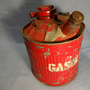 SALE Vintage Gasoline Can--5 quarts
