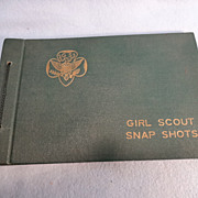 SALE Vintage Girl Scout Snap Shot Photo Album