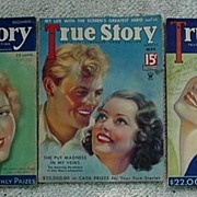 3 True Story Magazines 1930's Neat, Interesting