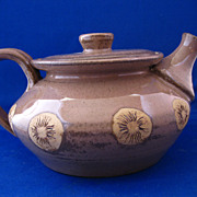 Unusual Pottery Teapot